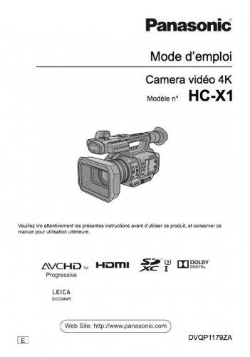 Screenshot for Notice Panasonic HC-X1