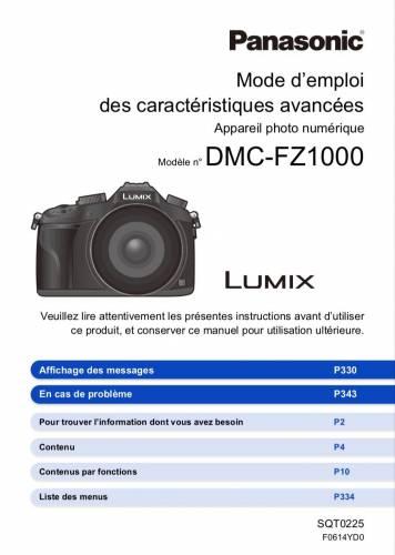 Lumix DMC-FZ1000, notice d'utilisation, mode d'emploi