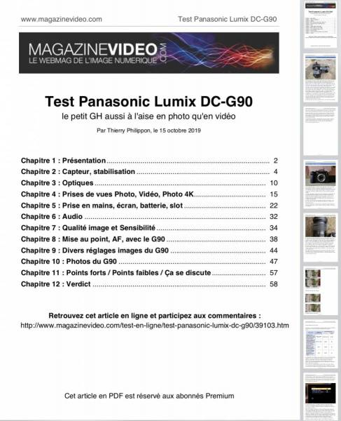 PDF tests / articles Premium à télécharger